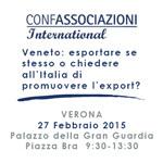 Confassociazioni International convegno Verona 02-15
