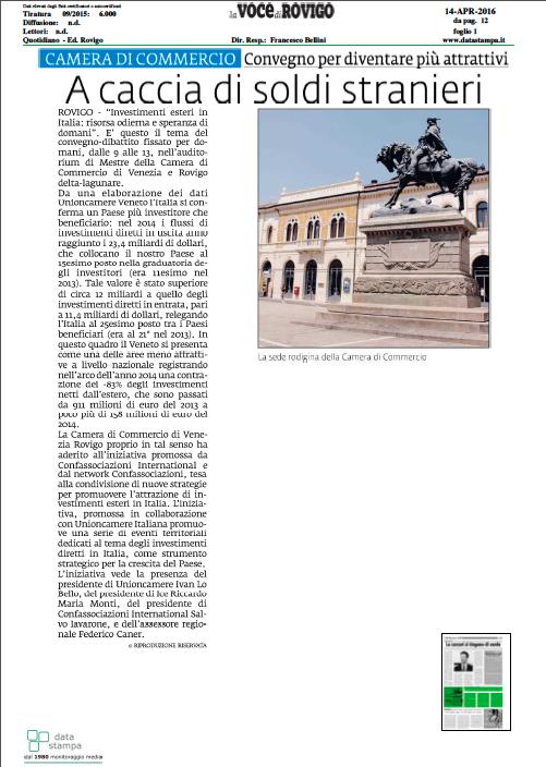 La Voce di Rovigo, 14 aprile 2016