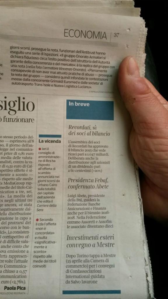 Corriere della Sera 14 aprile 2016 pagina 37