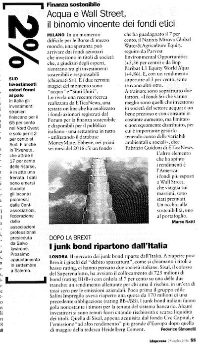 L'Espresso, 28 luglio 2016